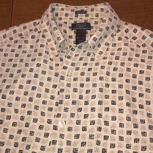 CRAZY HORSE 100% Silk Hawaiian Style Button Shirt